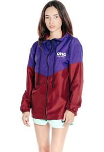 Jaqueta Corta Vento Dhg Clothing Purple Wine Premium