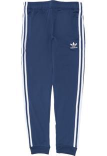 Calça Adidas Originals Infantil Logo Azul