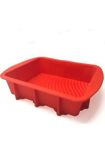 Assadeira De Silicone Vermelha 29X23X6Cm - 24663