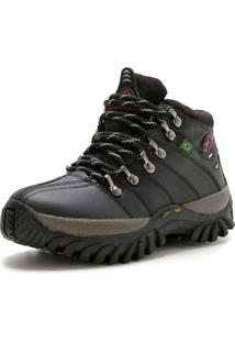 Bota Ec Shoes Adventure Cano Medio Tratorada Preto