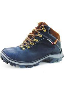Bota Adventure Atron Shoes Couro Azul