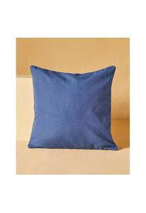 Capa De Almofada Quadrada - Capa De Almofada Gana Cor: Azul - Tamanho: Único