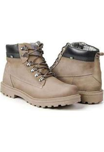 Bota Masculina Polo State Em Couro Worker Edition Bege Bege
