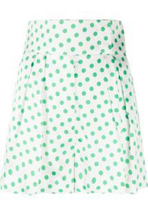 Sara Battaglia Polka Dot Shorts - Branco