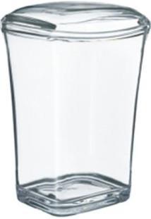 Porta Algodão Acrílico Cristal - Kos