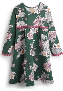 Vestido Milon Floral Verde