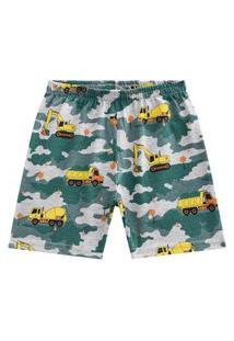 Bermuda Pijama Infantil Menino Kyly Verde