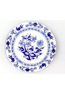 Conjunto De Pratos Rasos Porcelana Schmidt 06 Peças - Dec. Cebolinha