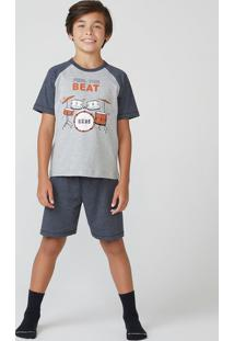 Pijama Infantil Menino Manga Curta