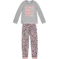 7739b1cd6 Hering. Pijama Infantil Menina Em Algodão Com Estampa ...