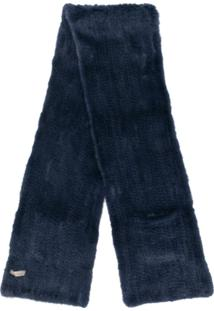 N.Peal Cachecol De Tricô - Azul