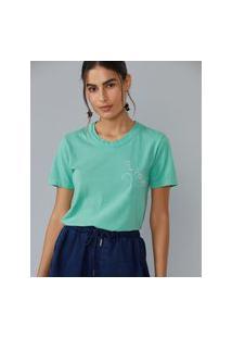 Amaro Feminino T-Shirt Solar, Verde