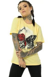 Camiseta Bossa Brasil Moon Amarelo - Kanui