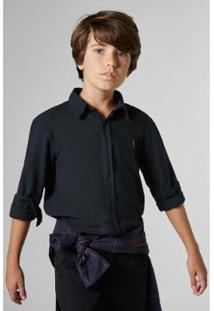 Camisa Infantil Sm Natural Reserva Mini Masculina - Masculino-Preto
