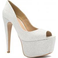 ab86a7410 Peep Toe Brilhante Festa feminino | Shoes4you