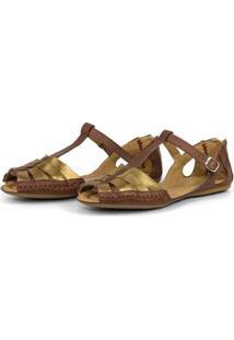 Tamanco Top Franca Shoes Babuche Feminina - Feminino-Marrom