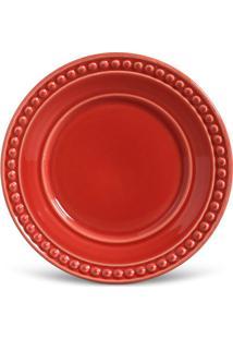 Prato De Sobremesa Atenas Vermelho