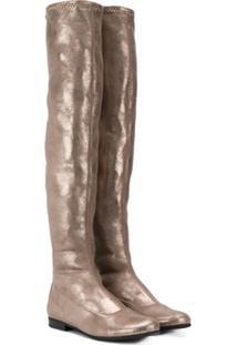 Monnalisa Over The Knee Boots - Dourado