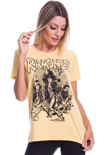 Camiseta Jazz Brasil Ramones Amarela