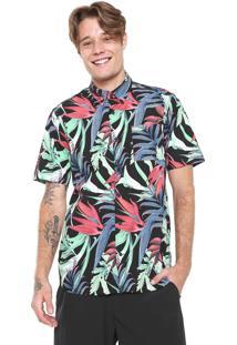 Camisa Hurley Reta Jungle Trip Preta abb1f540c5a