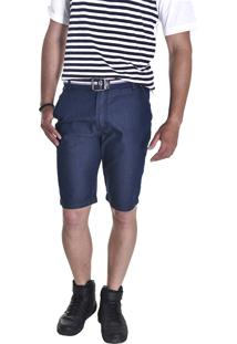 Bermuda Young Style Jeans Premier Esporte Fino Azul