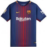9179a24b289 Camiseta Infantil Nike Barcelona Dry Stadium Home 2017 18 (Com Logo)