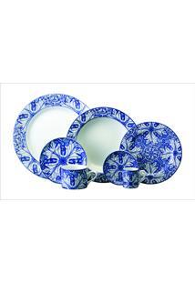 Jogo Jantar E Chá 30 Pç - Dec. Azulejo