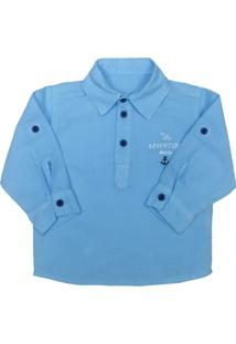 Camisa Look Jeans Bata Collor - Azul - Menino - Dafiti