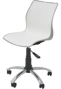 Cadeira Maja Com Rodizio Cor Camurca C/ Branco - 19608 Sun House