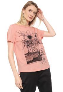 Camiseta Forum Floral Rosa