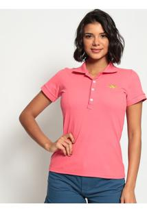 Polo Lisa Com Bordado - Pinkclub Polo Collection