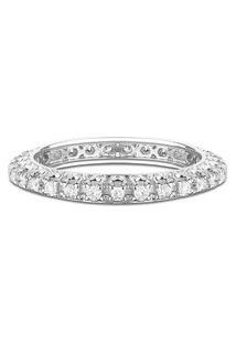 Aliança Absoluta Ouro Branco E 29 Pontos De Diamantes