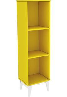 Livreiro Twister Tililin Móveis -Amarelo / Branco