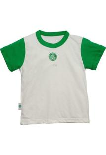 Camiseta Manga Curta Reve D Or Sport Bicolor Palmeiras Branca E Verde 07acaae30f7df