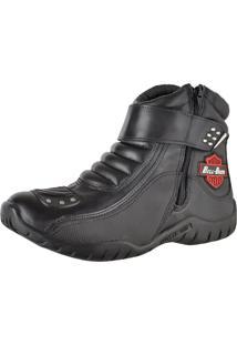 Bota Motociclista Slim Soft Bell-Boots Cano Baixo 3500 Preta - Kanui