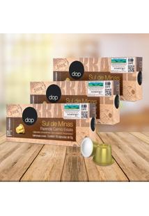 Kit Cápsulas Dop Espresso Sul De Minas Compatível Com Cafeteiras Nespresso - 3 Caixas