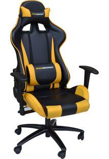 Cadeira Office Pro Gamer V2 Preta E Amarela Rivatti Móveis