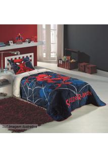 5b1cbc8ec2 Edredom Solteiro Spider Man®- Azul Escuro   Vermelholepper
