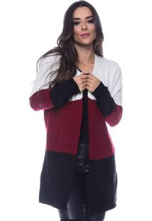 Casaco Look Lovers Mousse 3 Cores Bolso Marsala.