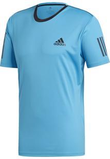 Camisetas E Regatas Esporte Tênis Adidas 3 Stripes Azul
