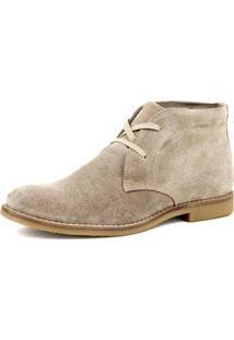 Bota Chelsea Masculina Linha Desert Mr Shoes Camurça Areia