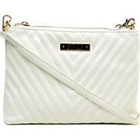 03ea7ea43 Bolsa Santa Lolla Mini Bag Matelassê Feminina - Feminino-Branco
