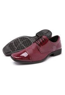 Sapato Masculino Schiareli Social Vermelho