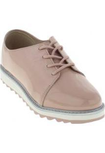 Sapato Infantil Oxford Molekinha Verniz Feminino - Feminino-Rosa
