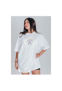 Camiseta Feminina Oversized Boutique Judith Eu Faço O Que Eu Quero Branco