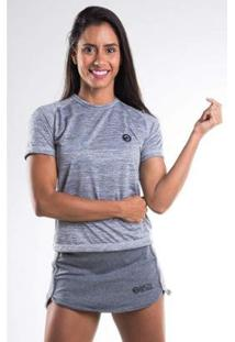Camiseta Baby Look Raglan Mescla Feminina - Feminino