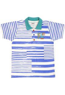 Camisa Polo Branca Lapis infantil  3a347e0847418