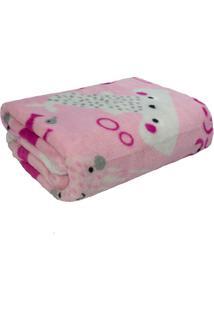 Cobertor Infantil Soft Rosa