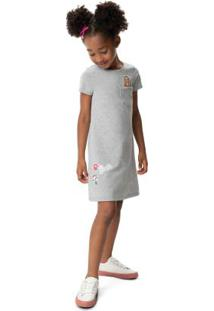 Vestido Cinza Evasê Barbie®
