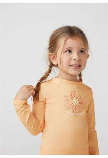 Camiseta Infantil Menina Com Proteção Solar Toddle